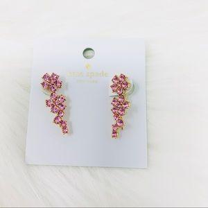 Kate spade earrings light pink floral  dust bag
